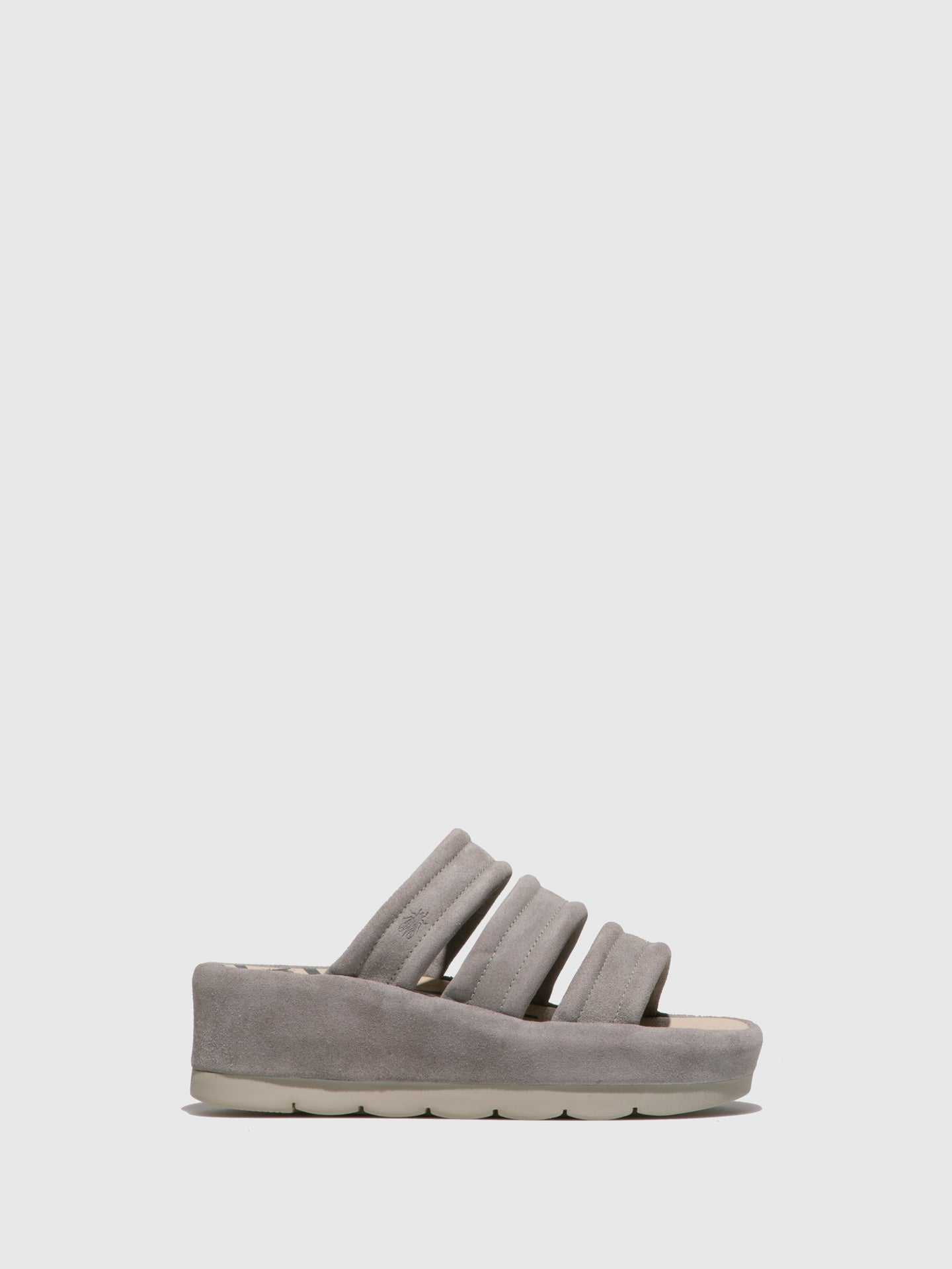 Fly London LightGray Open Toe Mules
