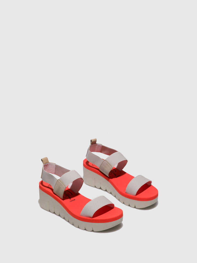 LightGray Sling-Back Sandals