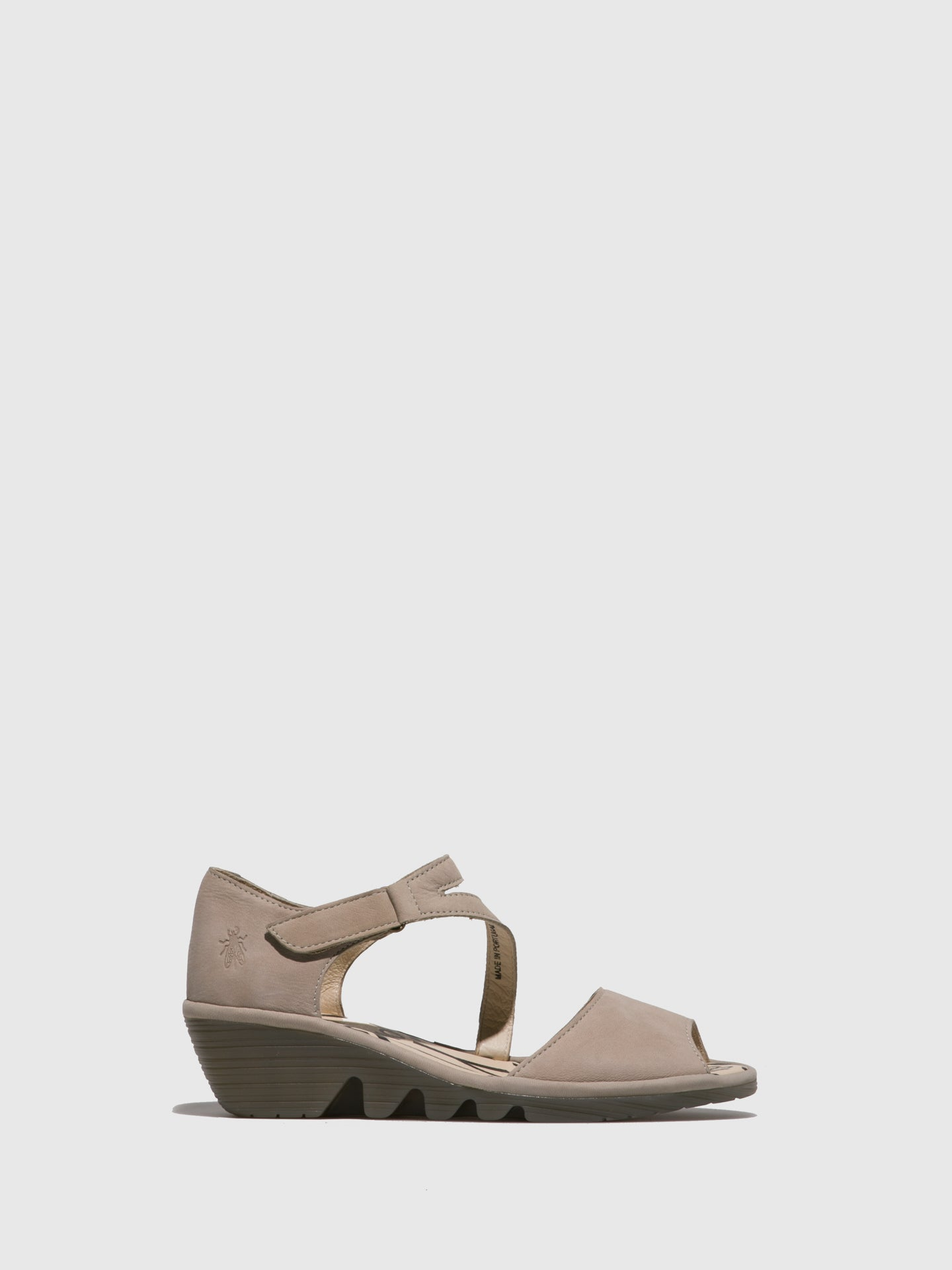 Fly London LightGray Velcro Sandals