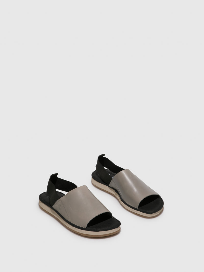 Gray Open Toe Sandals