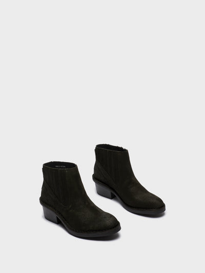 Fly London DarkGreen Chelsea Ankle Boots