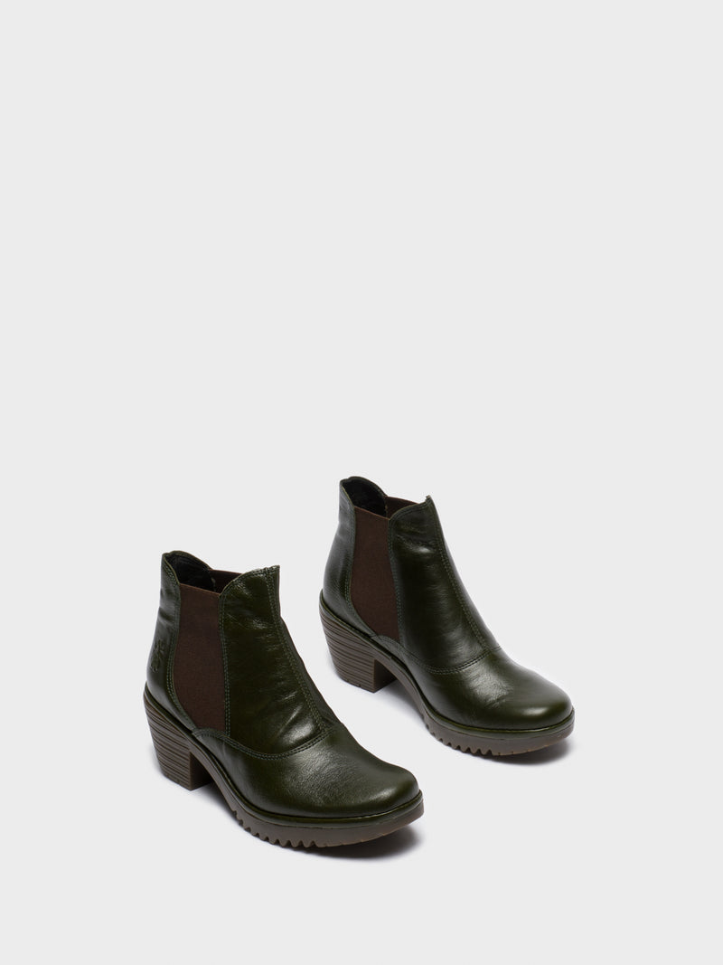 Green Chelsea Ankle Boots