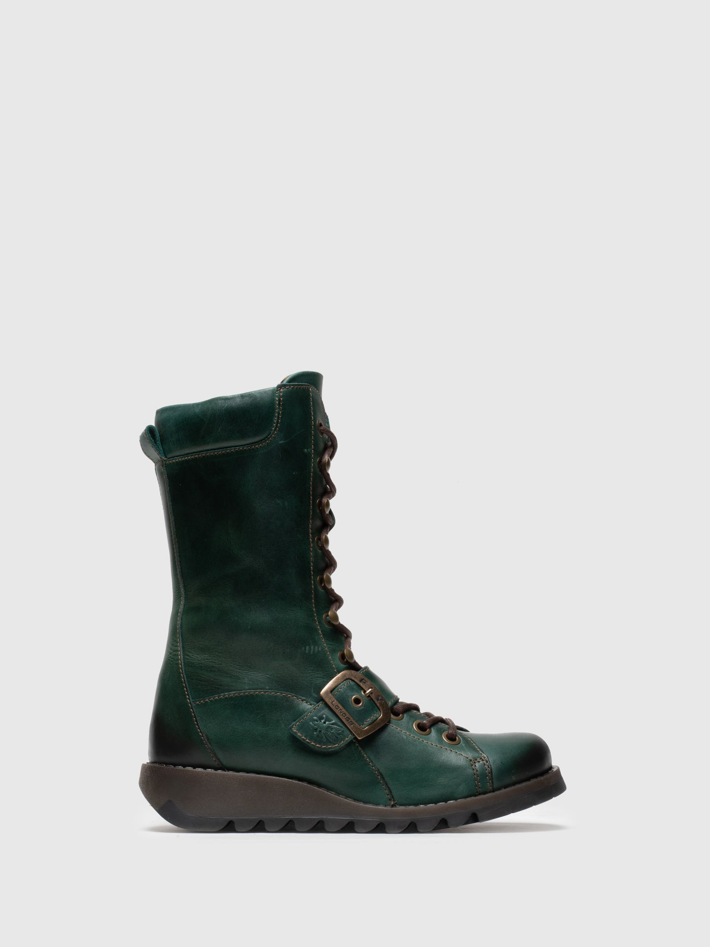 Fly London Green Lace-up Boots