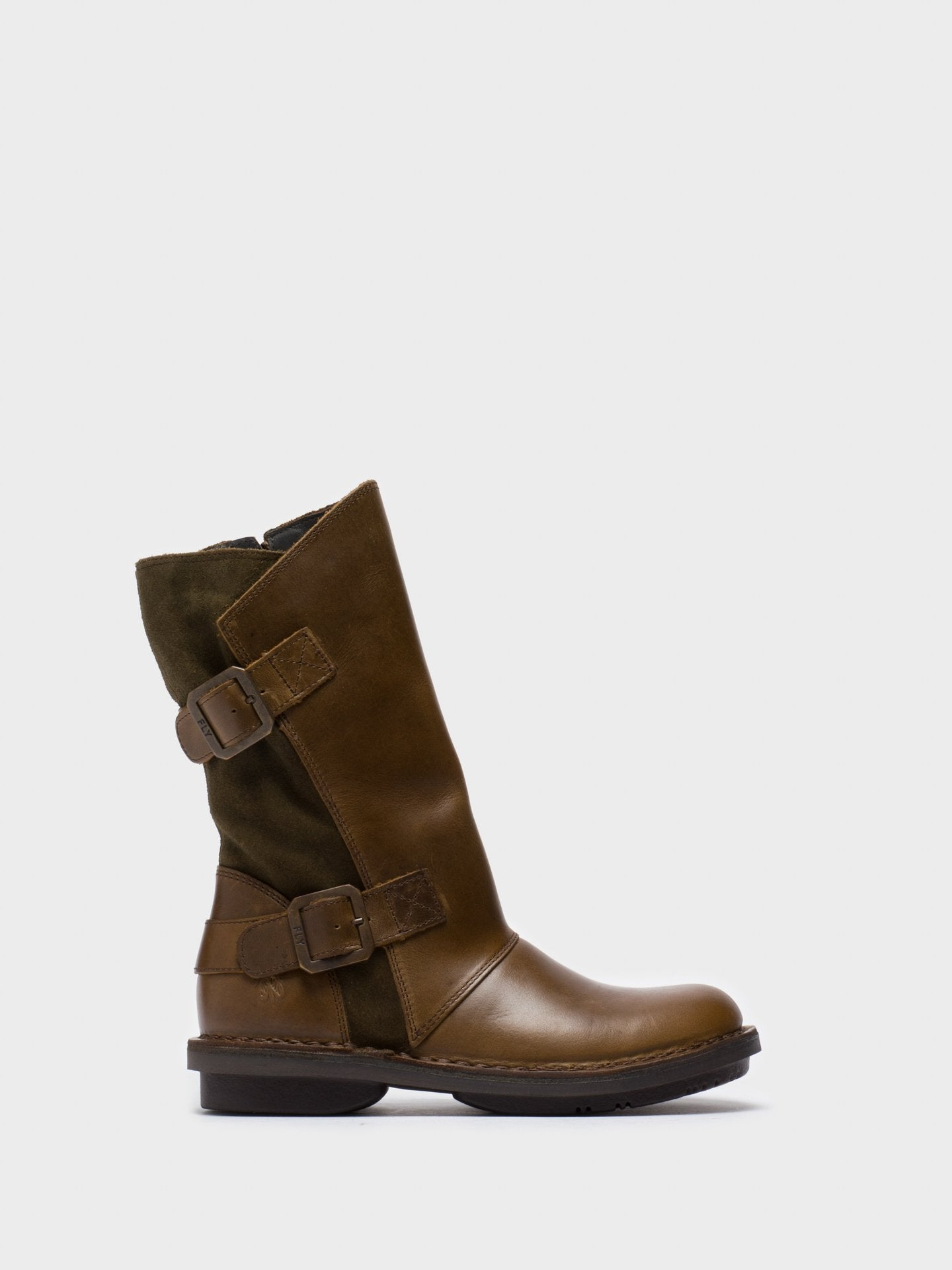 Fly London Olive Zip Up Boots