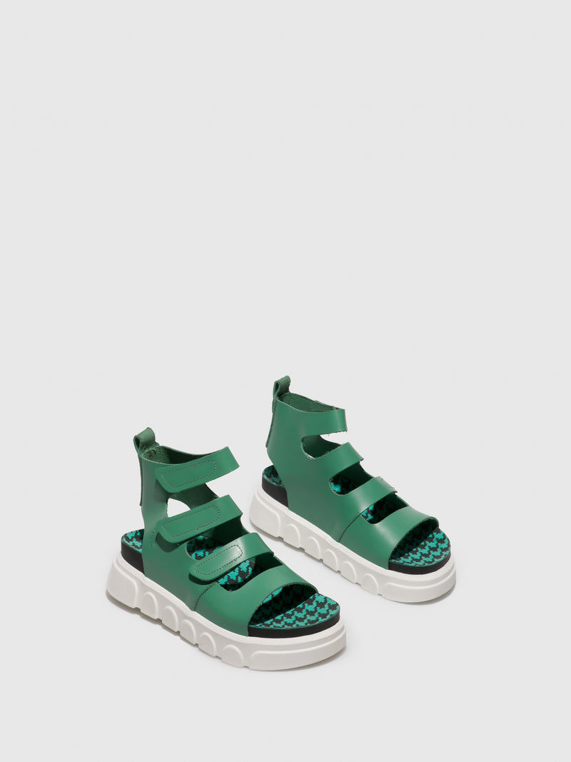 Fly London Green Gladiator Sandals