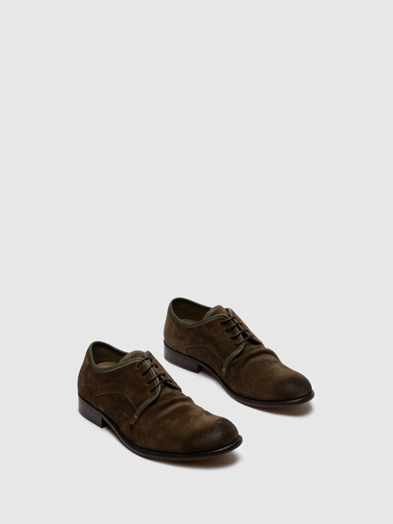 Olive Lace-up Shoes