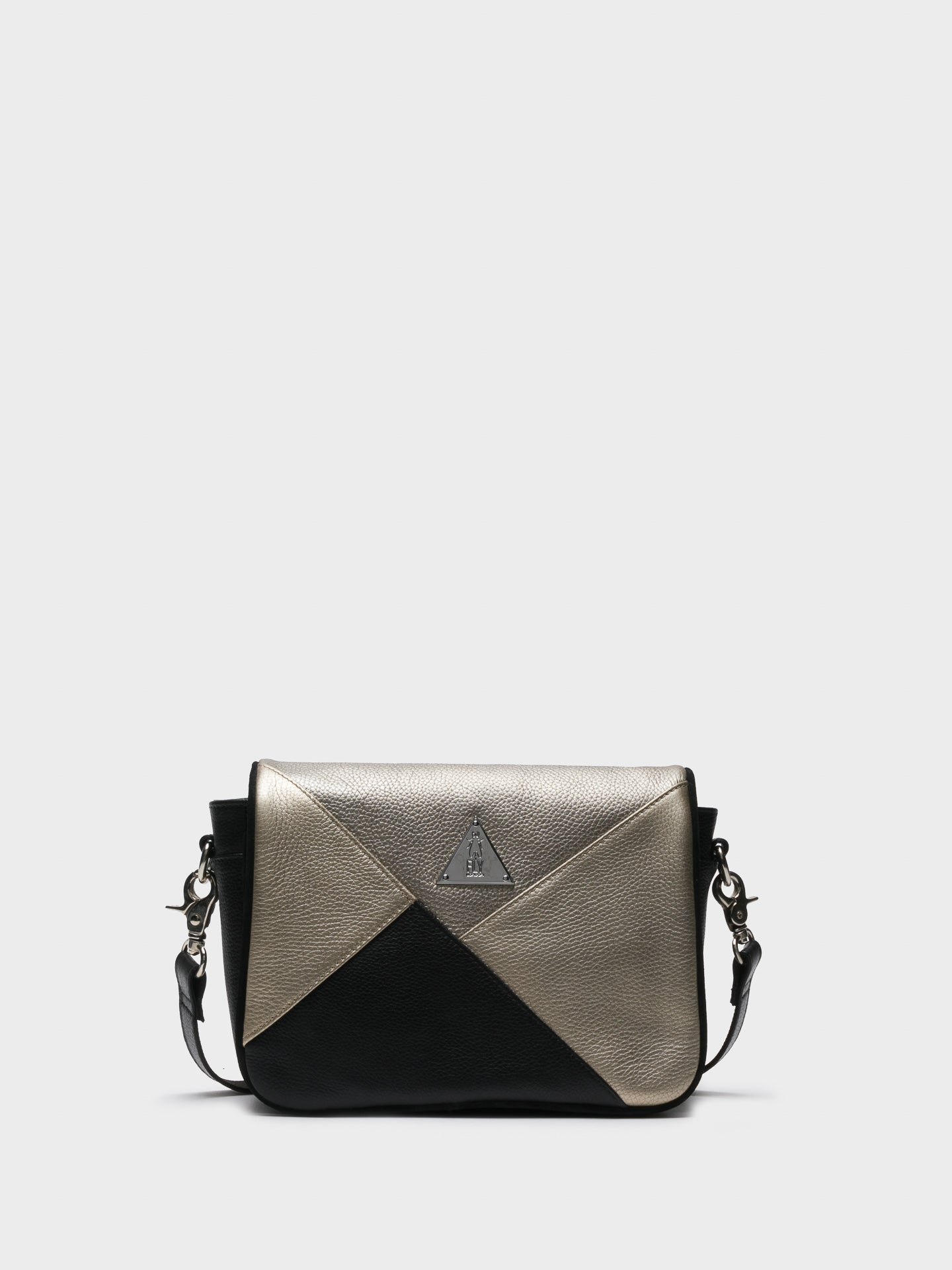 Fly London Silver Black Crossbody Bag