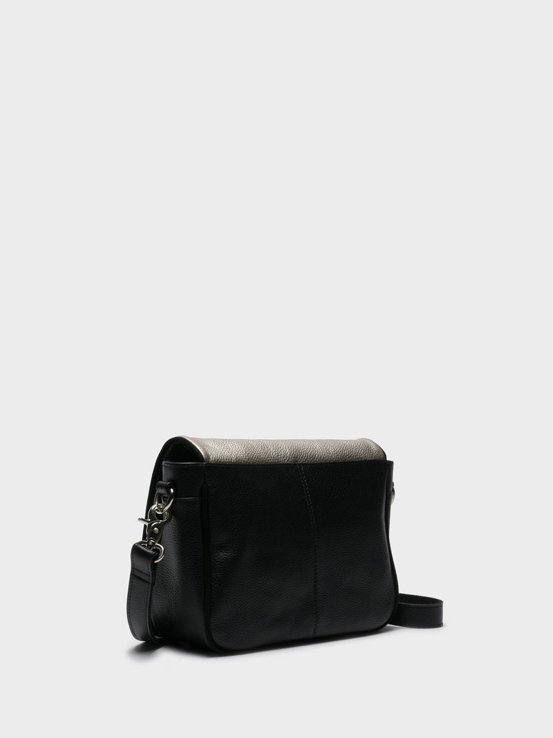 Silver Black Crossbody Bag
