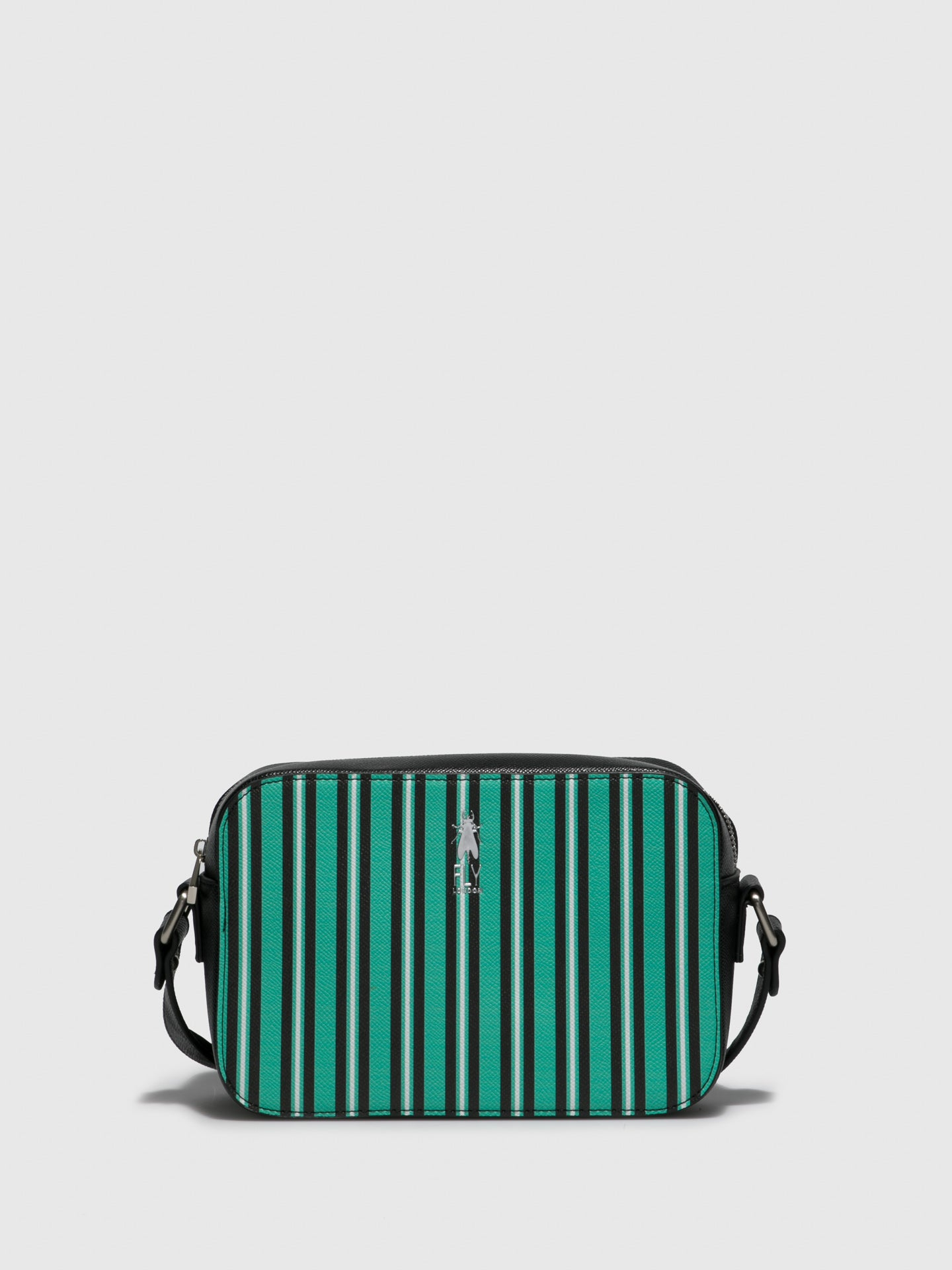 Fly London Green Black Crossbody Bag