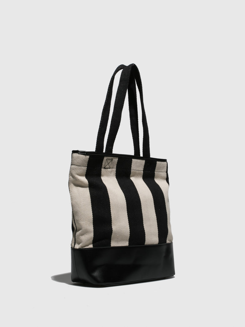 Fly London Black White Tote Bag