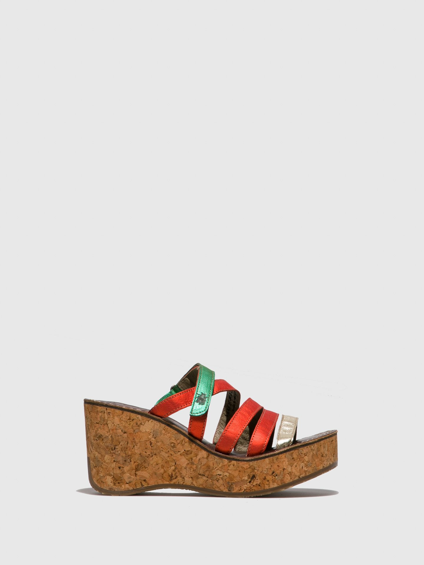 Fly London Multicolor Strappy Mules