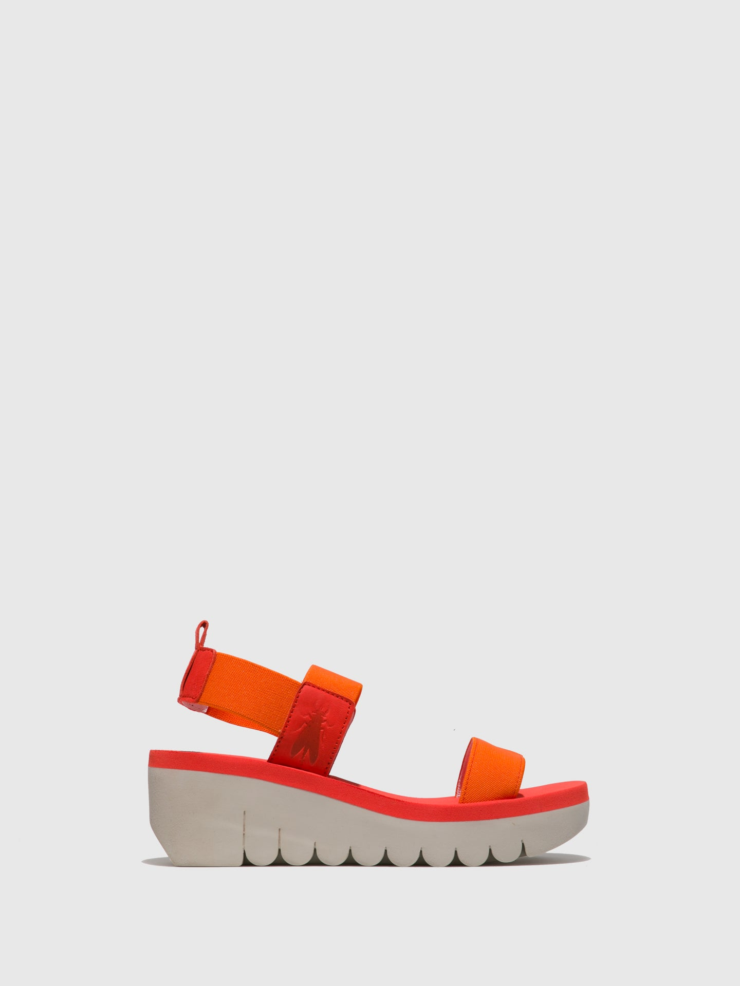 Fly London Orange Sling-Back Sandals