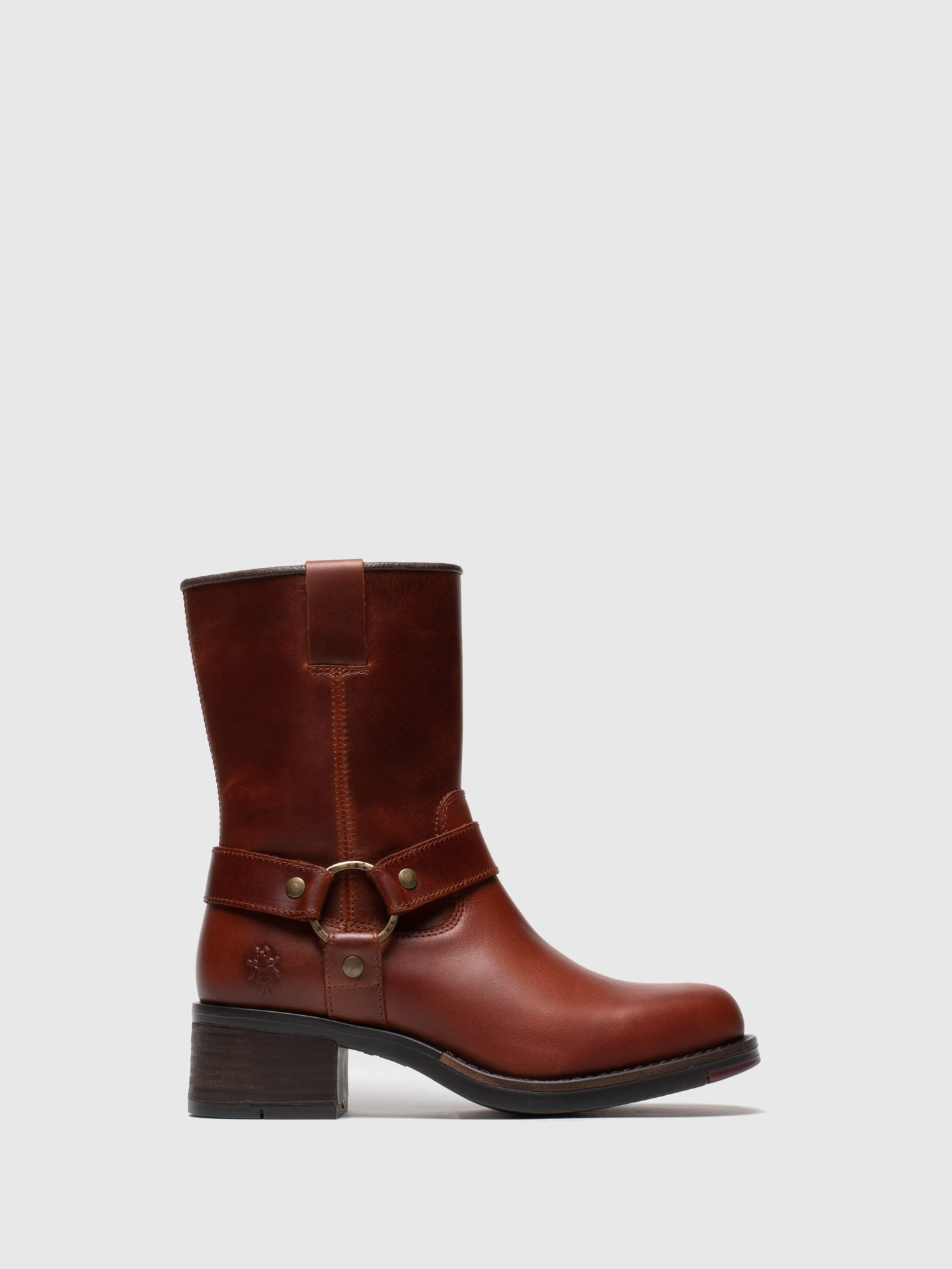 Fly London Firebrick Zip Up Ankle Boots