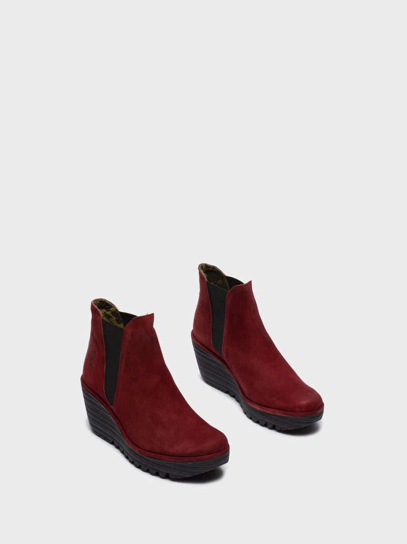 Firebrick Chelsea Ankle Boots