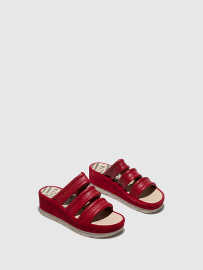 Fly London Firebrick Open Toe Mules
