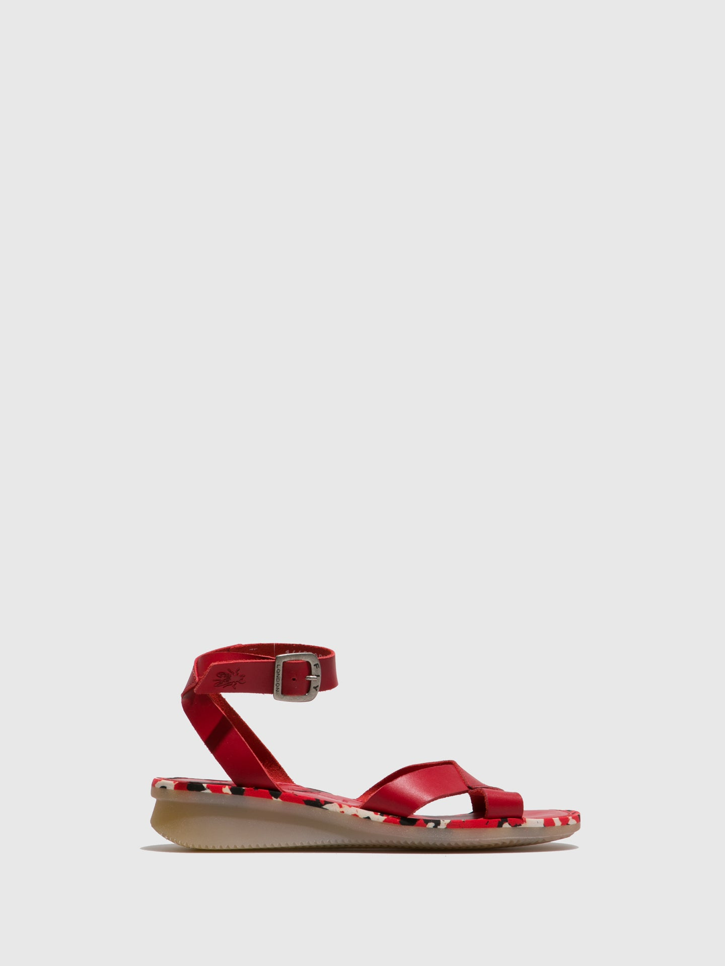 Fly London Firebrick Ankle Strap Sandals