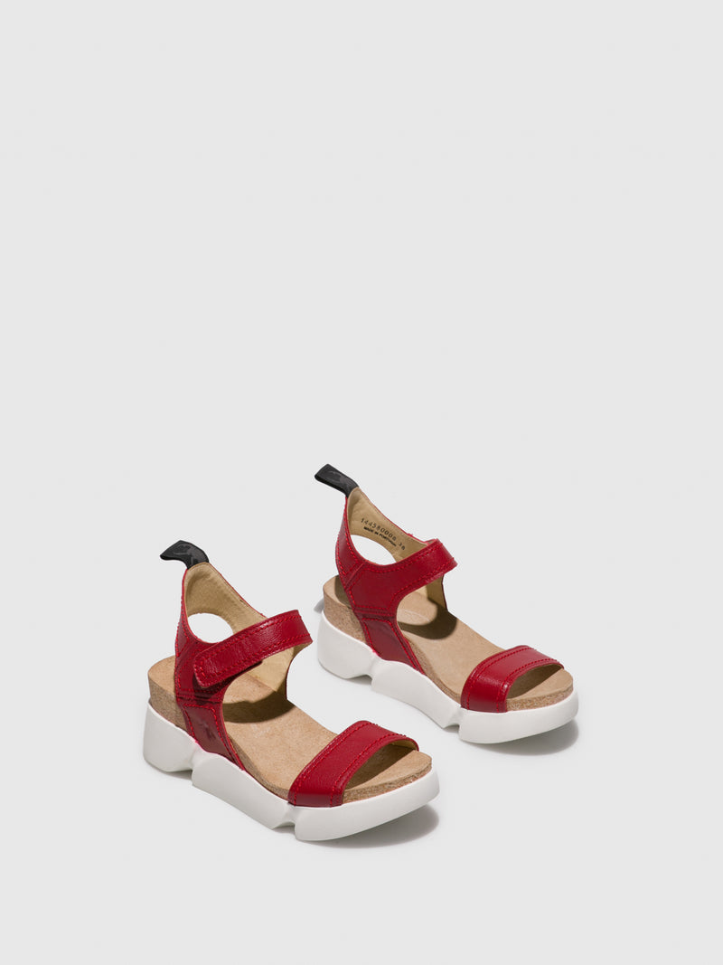 Fly London Firebrick Velcro Sandals