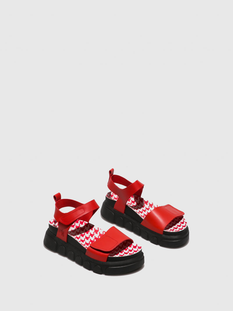 Red Velcro Sandals