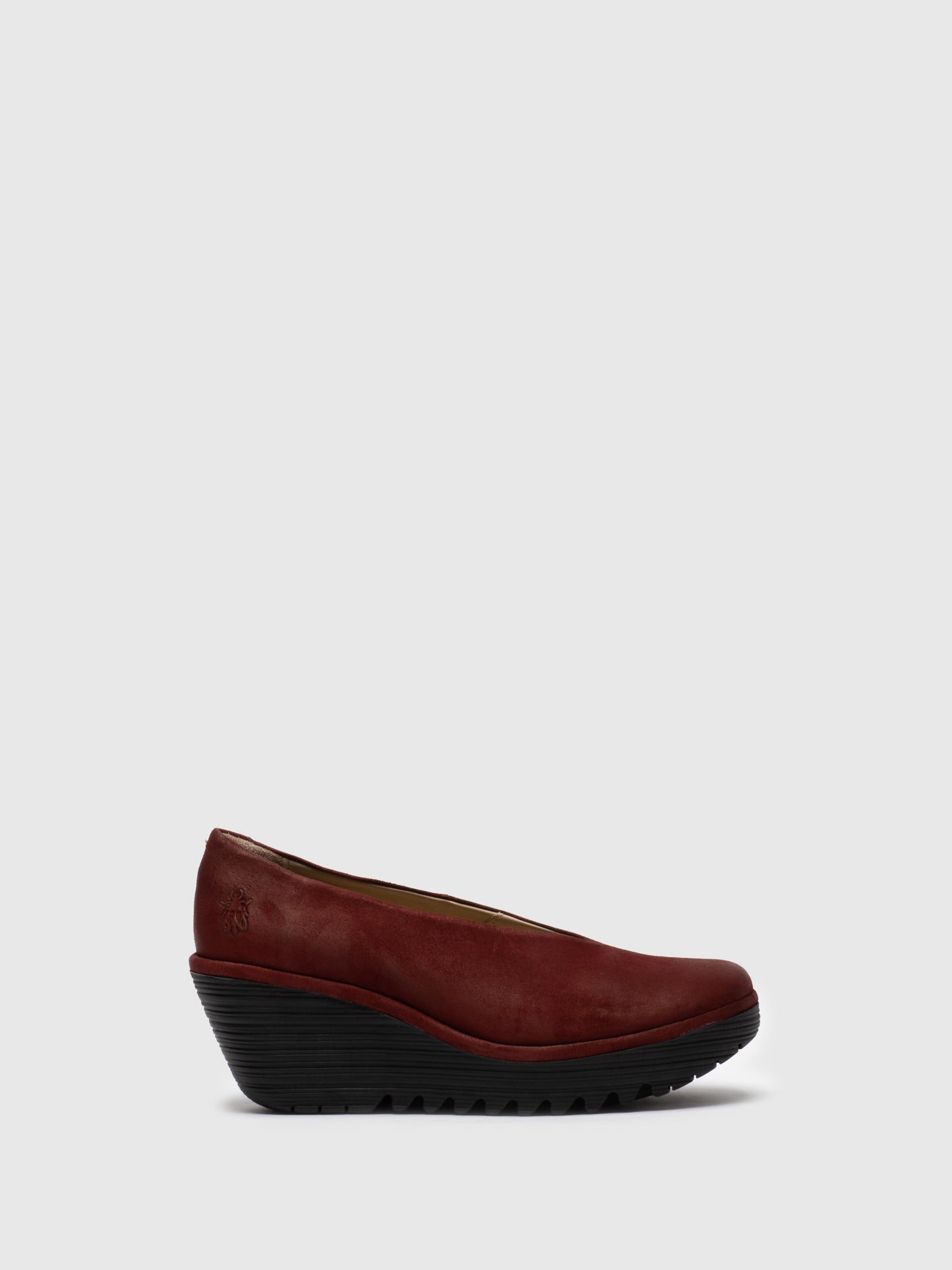 Fly London Maroon Wedge Shoes