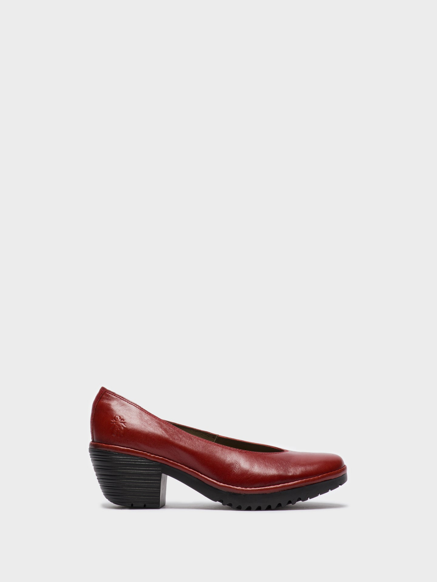 Fly London Red Round Toe Pumps