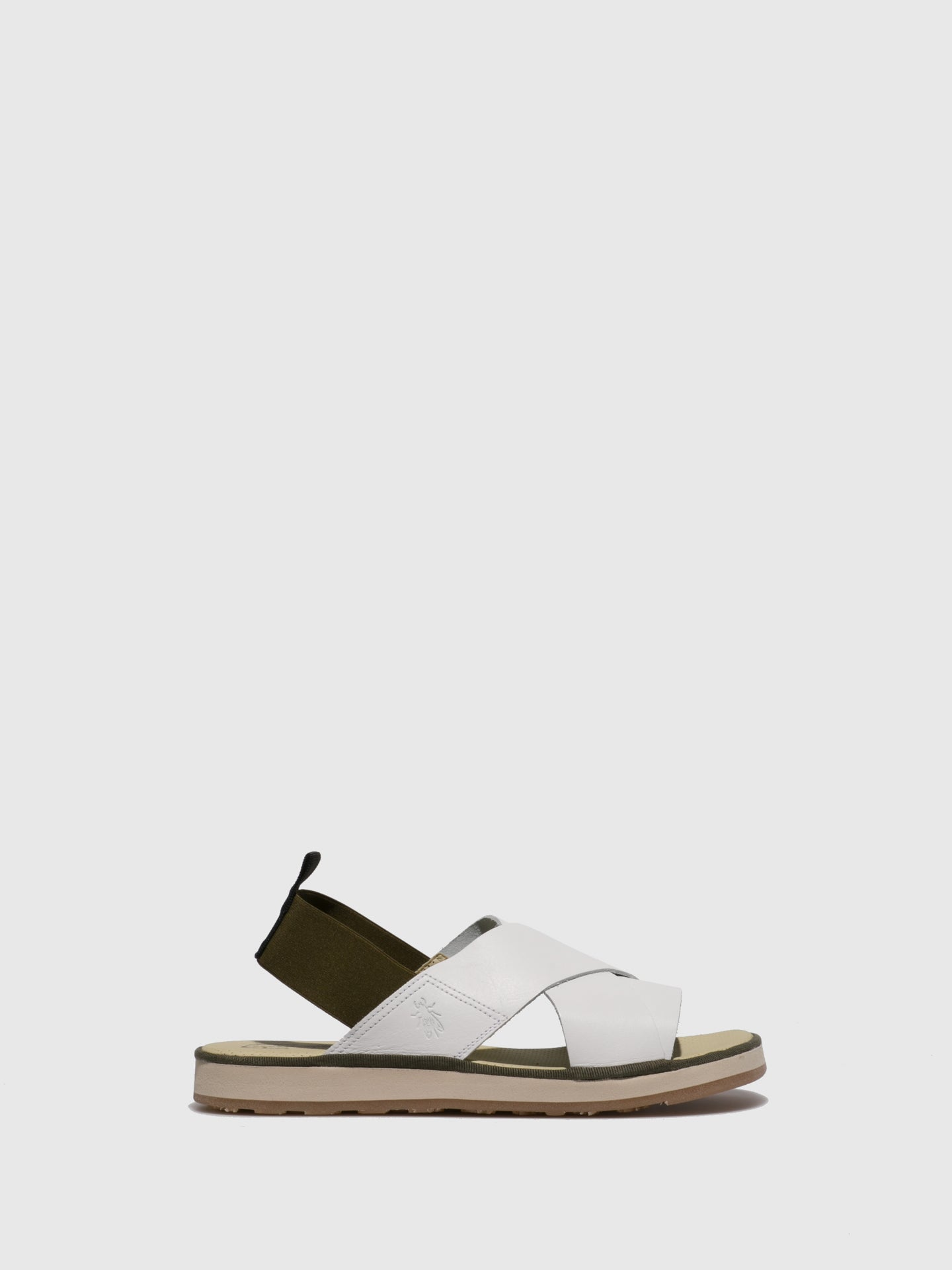 Fly London White Crossover Sandals