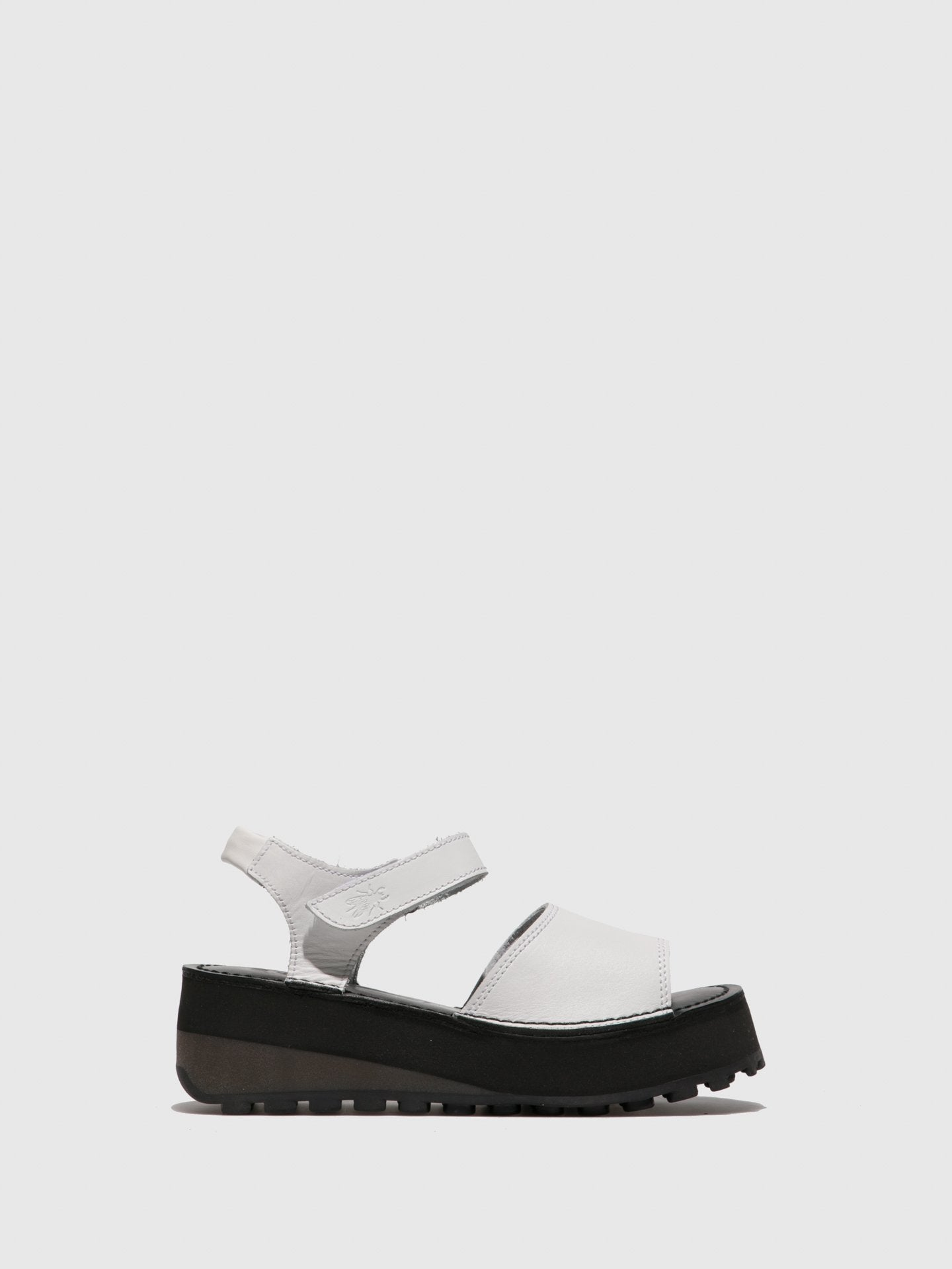 Fly London Velcro Sandals HOST483FLY OFFWHITE/BLACK