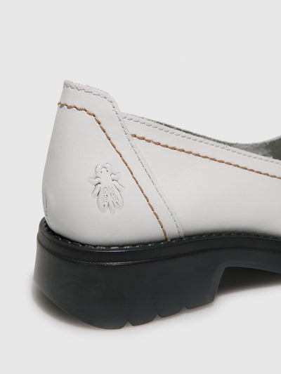 Fly London White Round Toe Shoes