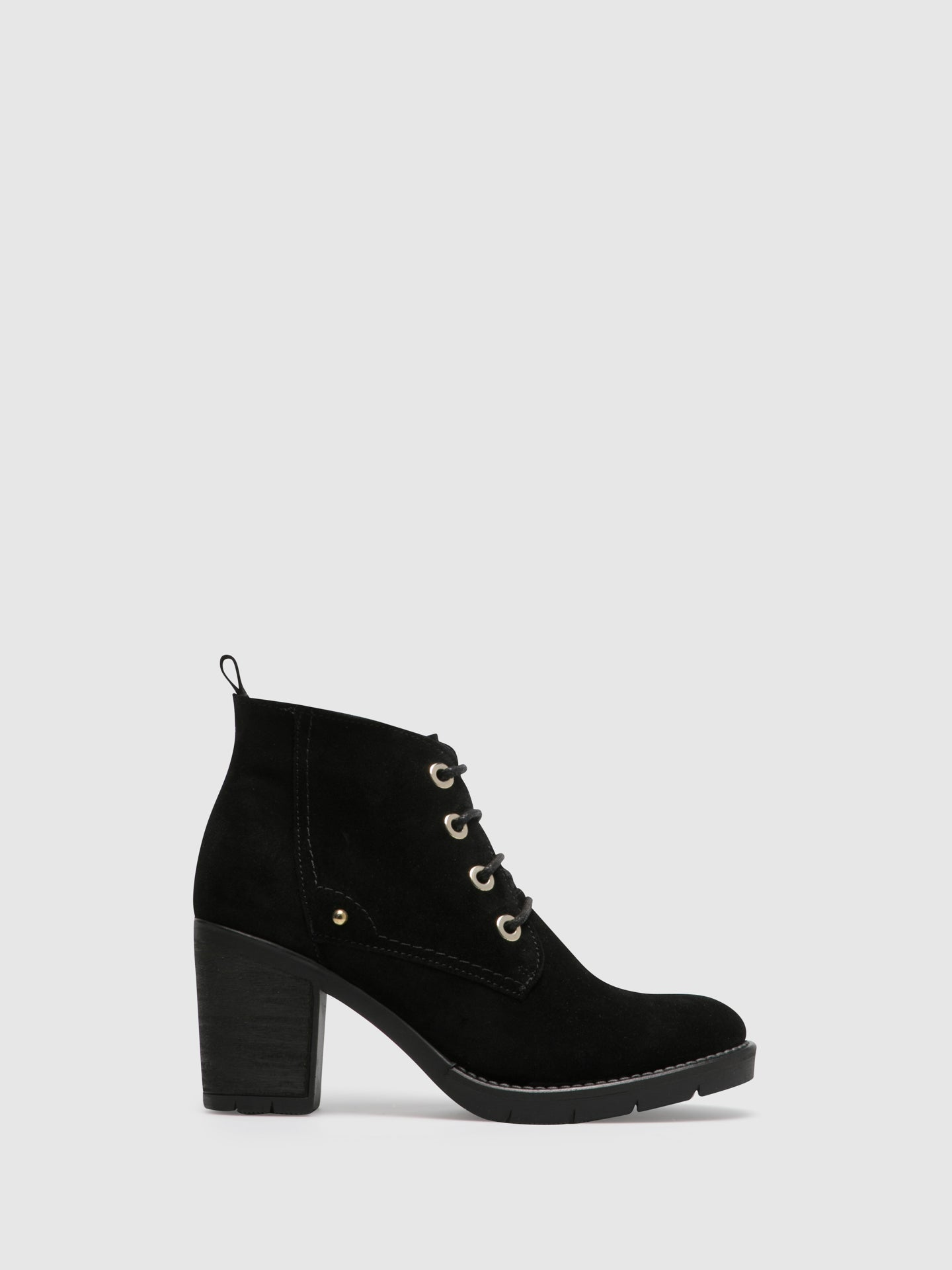 Foreva Black Lace-up Ankle Boots