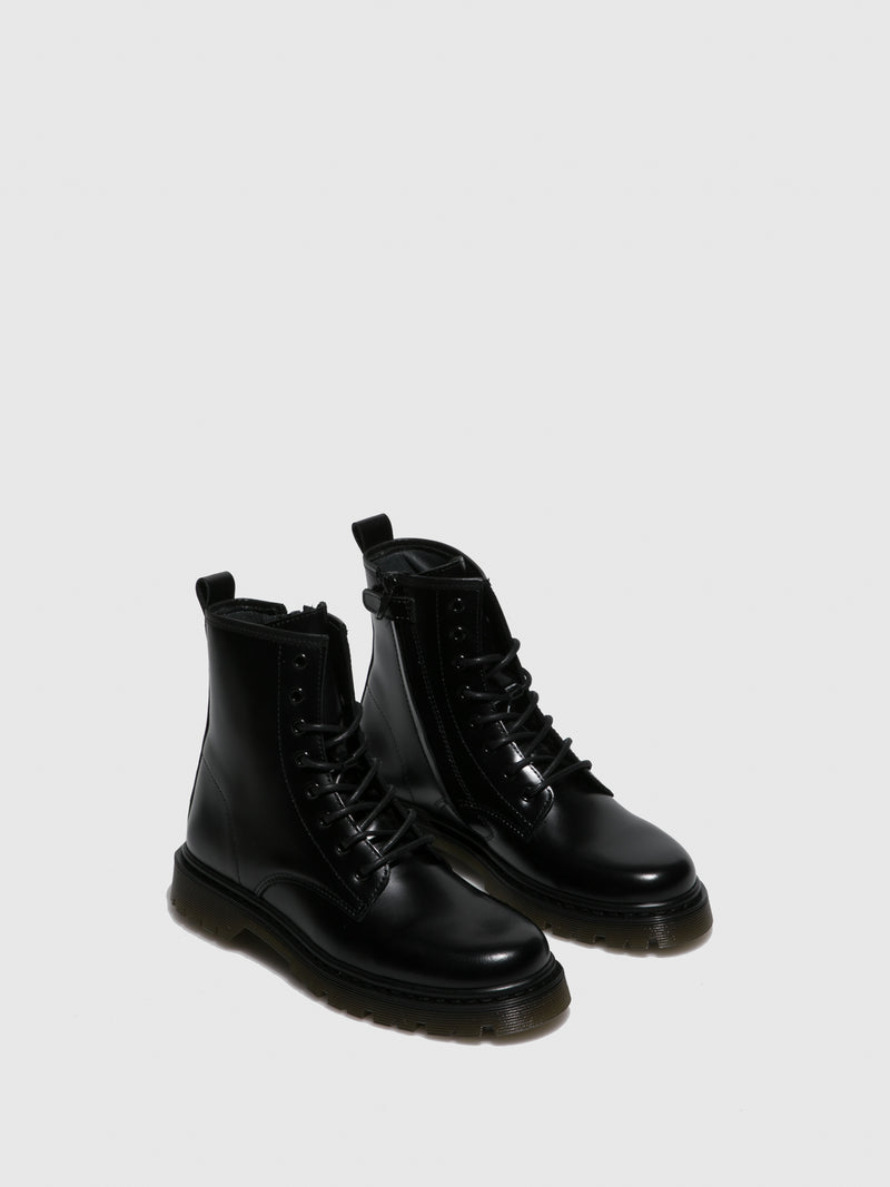 Foreva Black Lace-up Boots