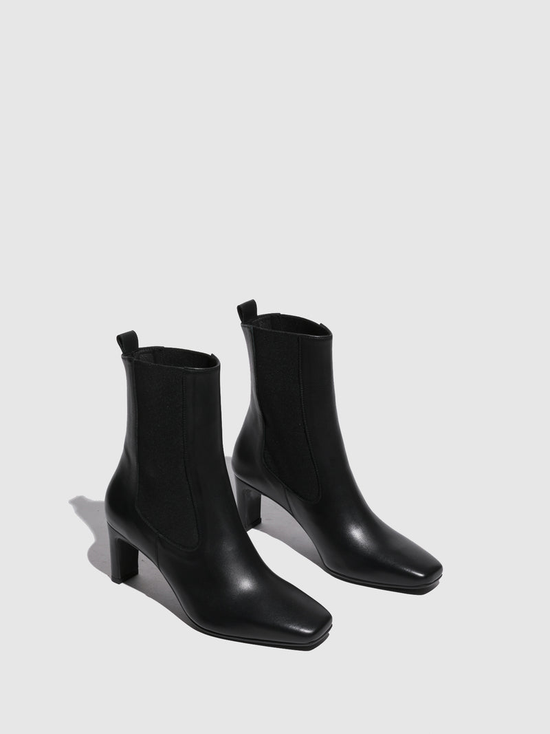 Foreva Black Square Toe Boots