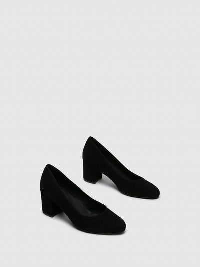 Foreva Black Round Toe Shoes