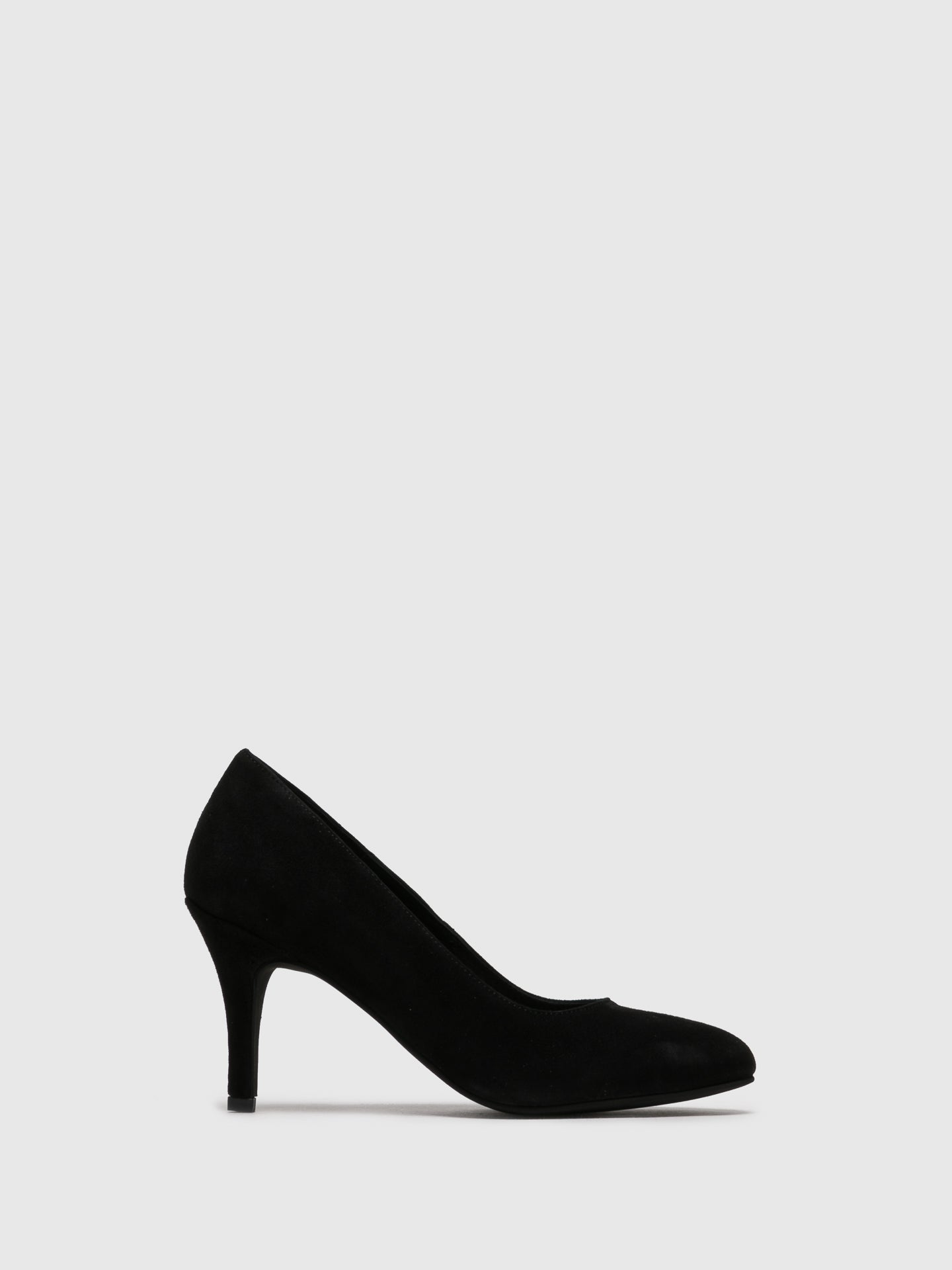 Foreva Black Suede Round Toe Pumps