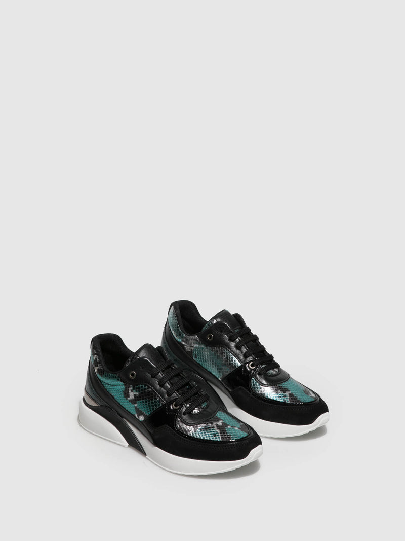 Foreva Black Lace-up Trainers