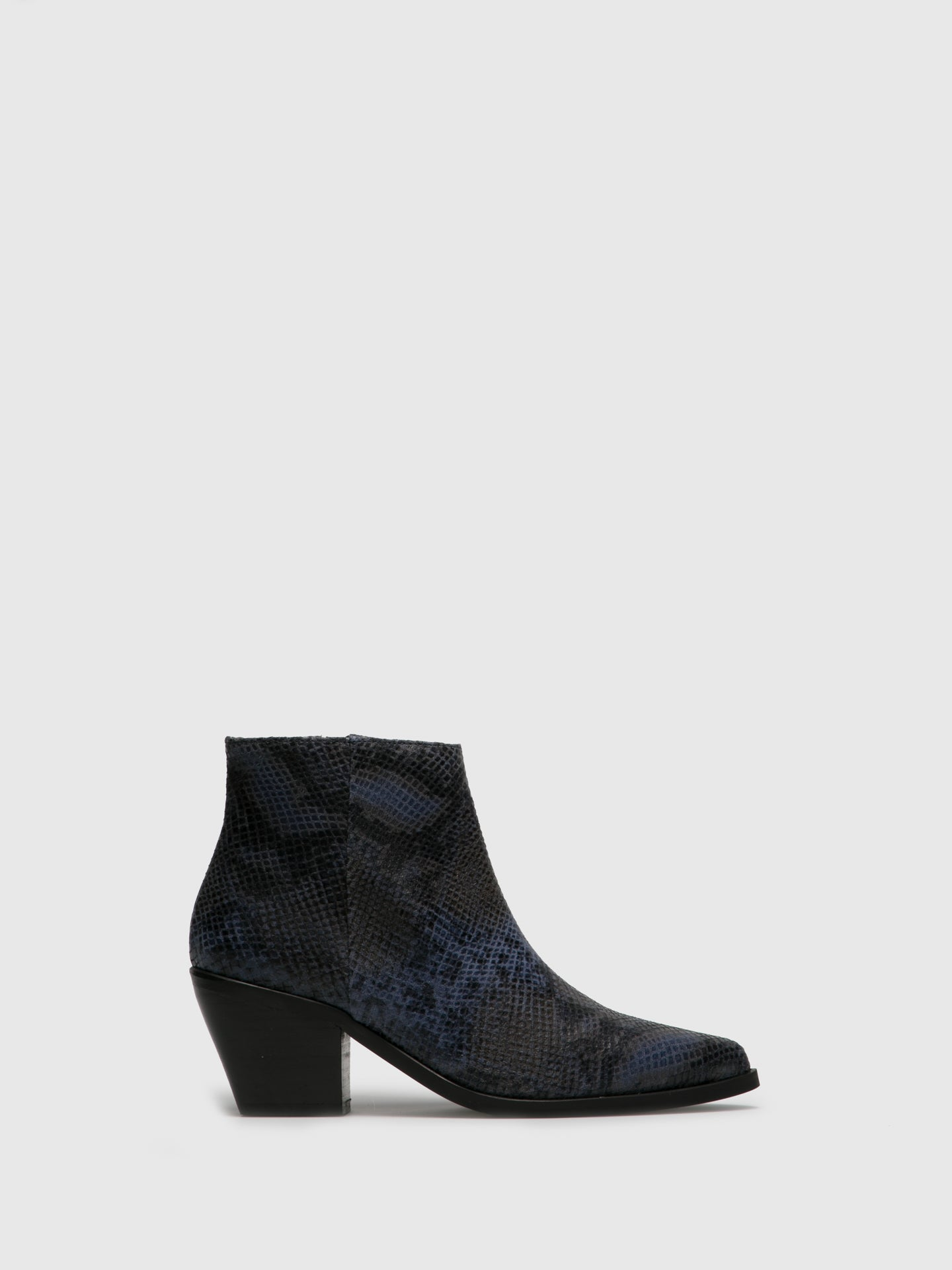 Foreva Navy Cowboy Ankle Boots