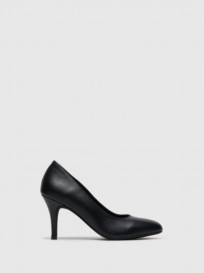 Foreva Navy Round Toe Pumps