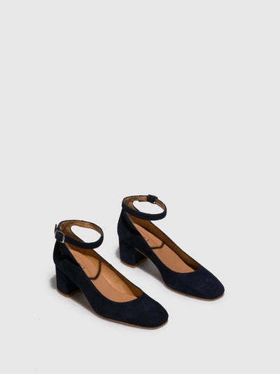 Foreva Blue Ankle Strap Shoes