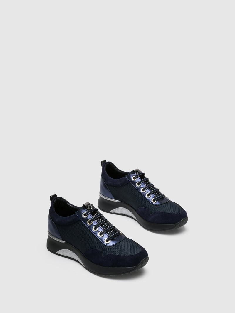 Blue Lace-up Trainers