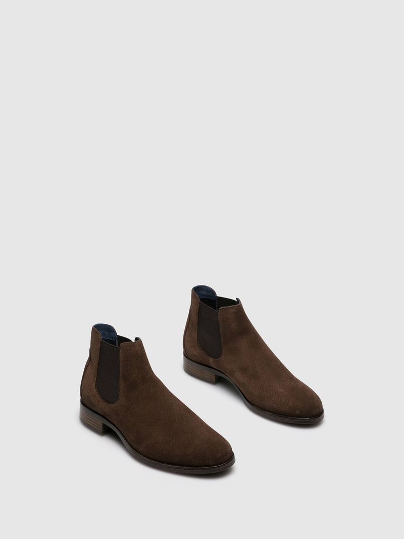 Foreva Brown Suede Elasticated Ankle Boots
