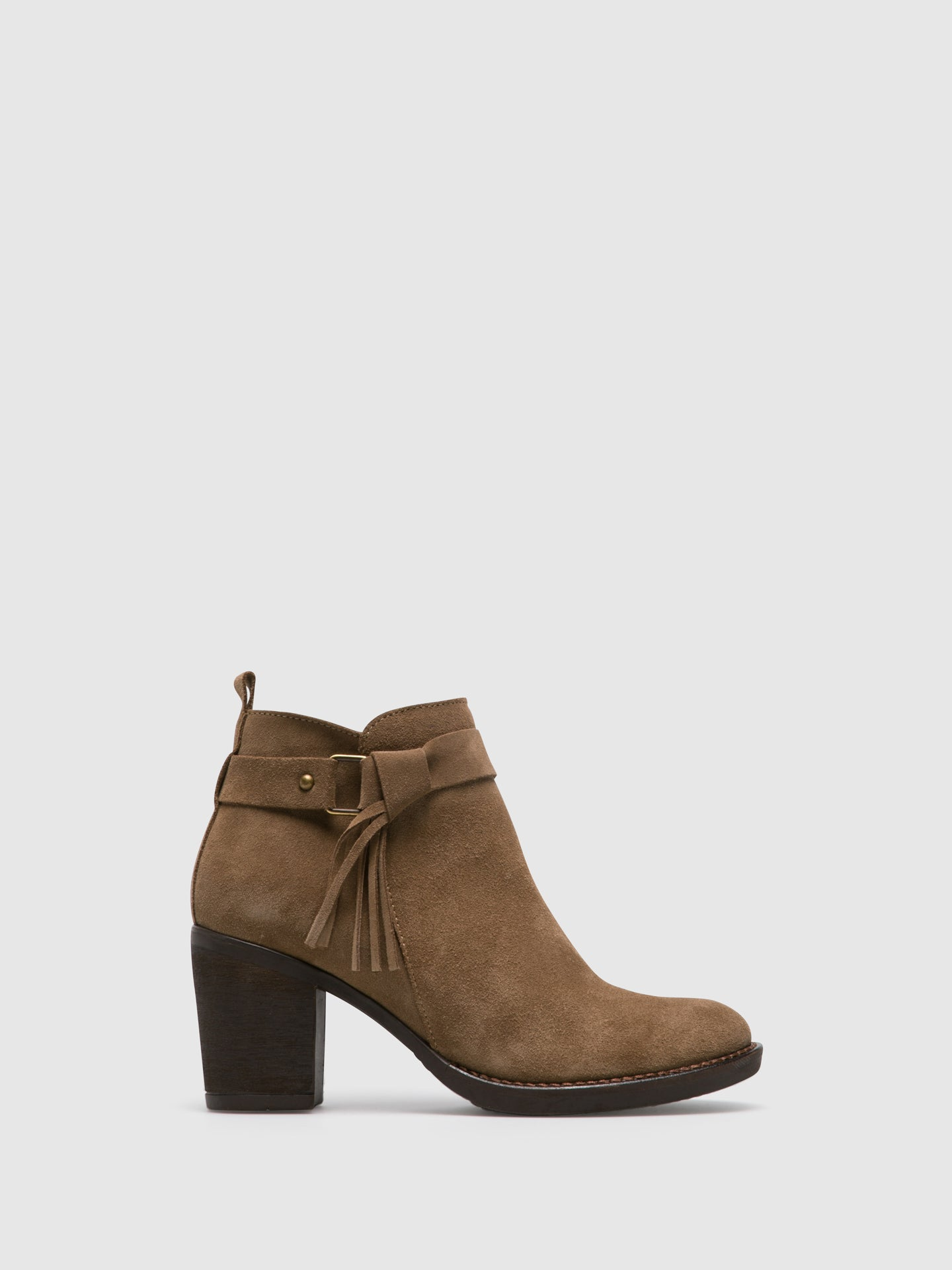Foreva Wheat Zip up Ankle Boots