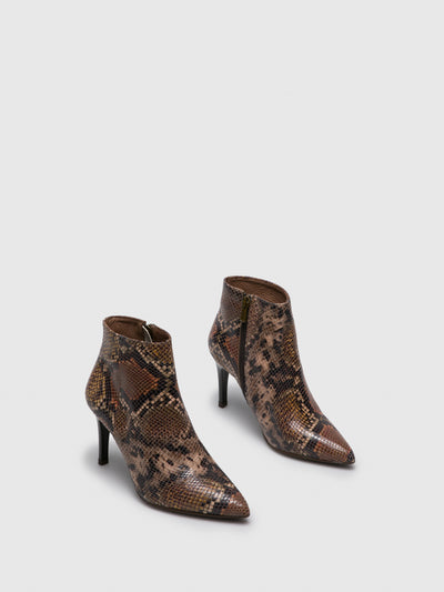 Foreva Wheat Pointed Toe Ankle Boots