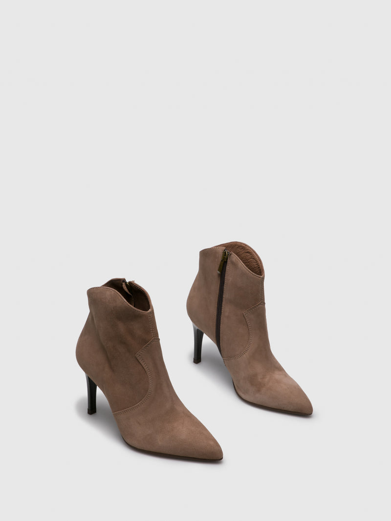 Tan Pointed Toe Ankle Boots