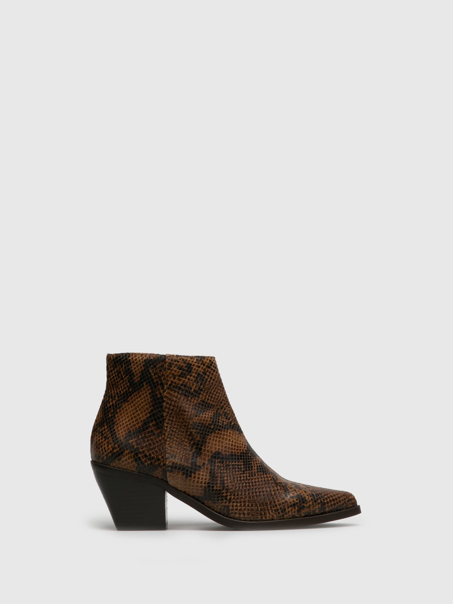 Foreva Camel Cowboy Ankle Boots