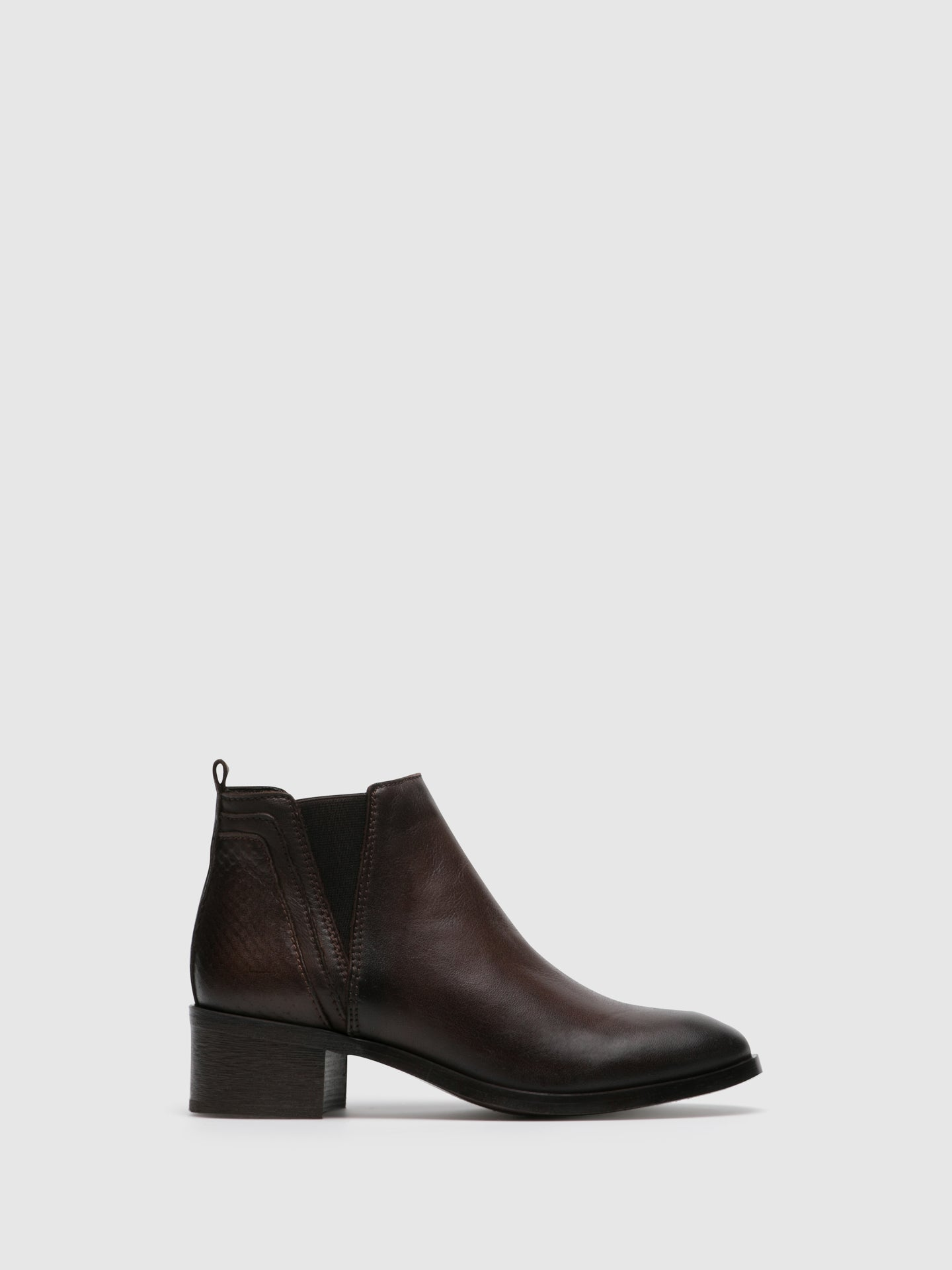Foreva Brown Leather Elasticated Ankle Boots