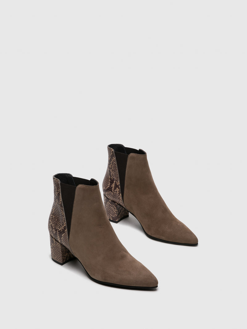Wheat Elasticated Ankle Boots