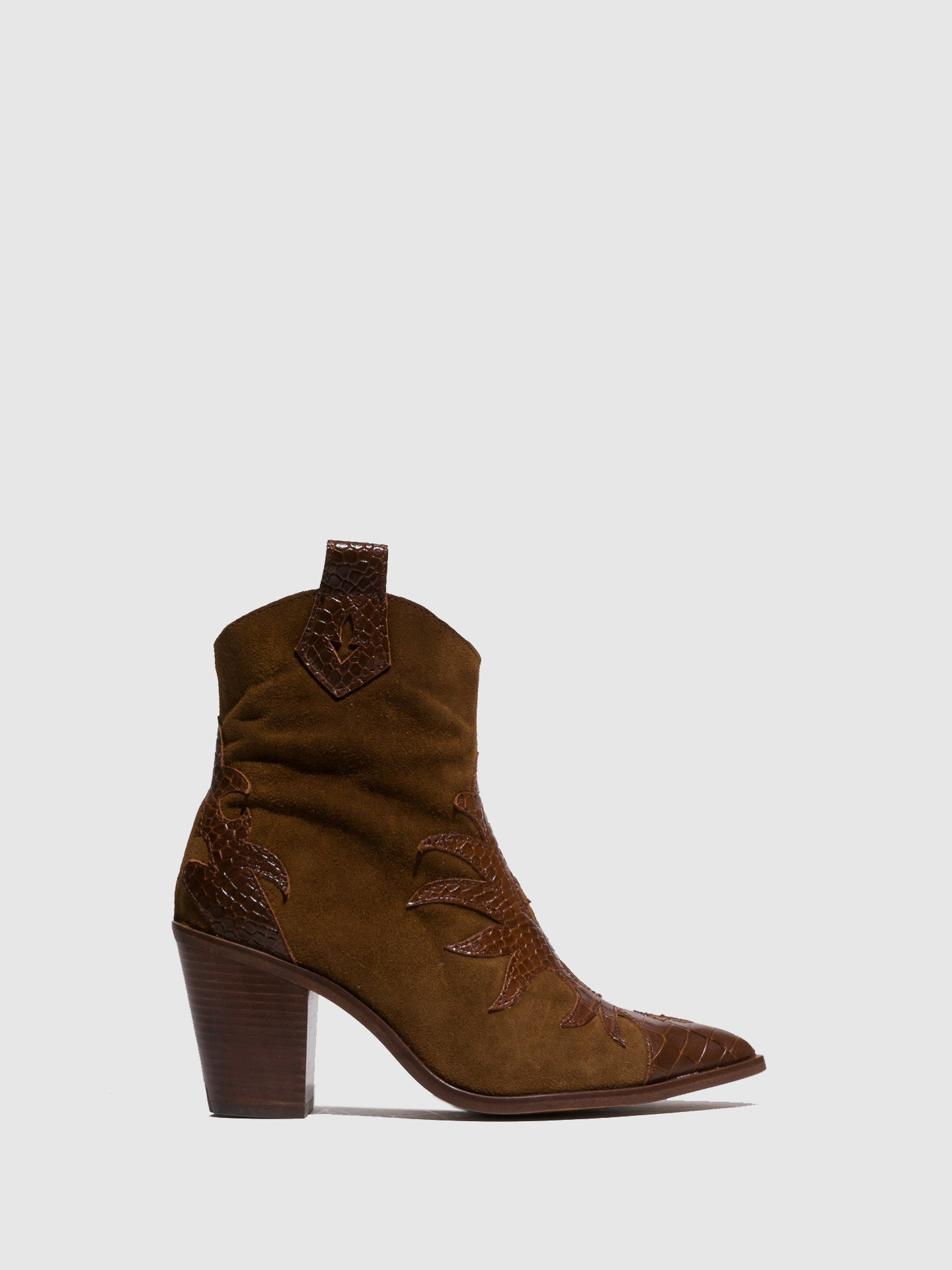 Foreva Brown Pointed Toe Ankle Boots