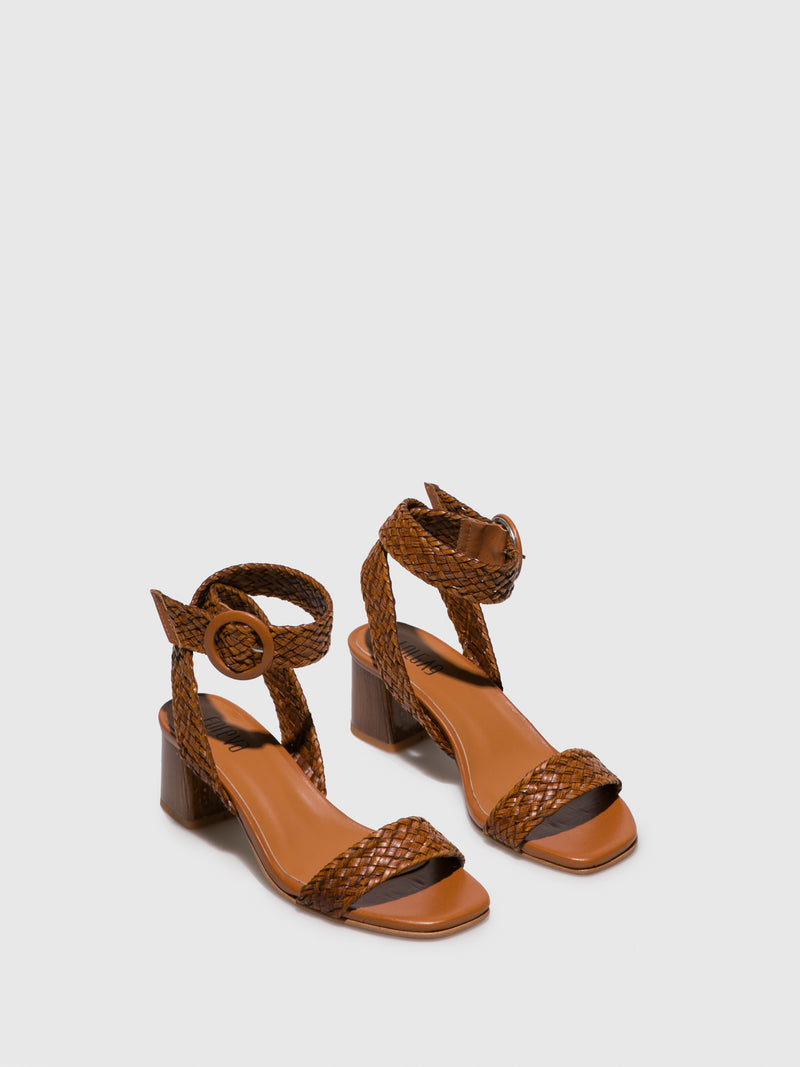 Foreva Brown Ankle Strap Sandals