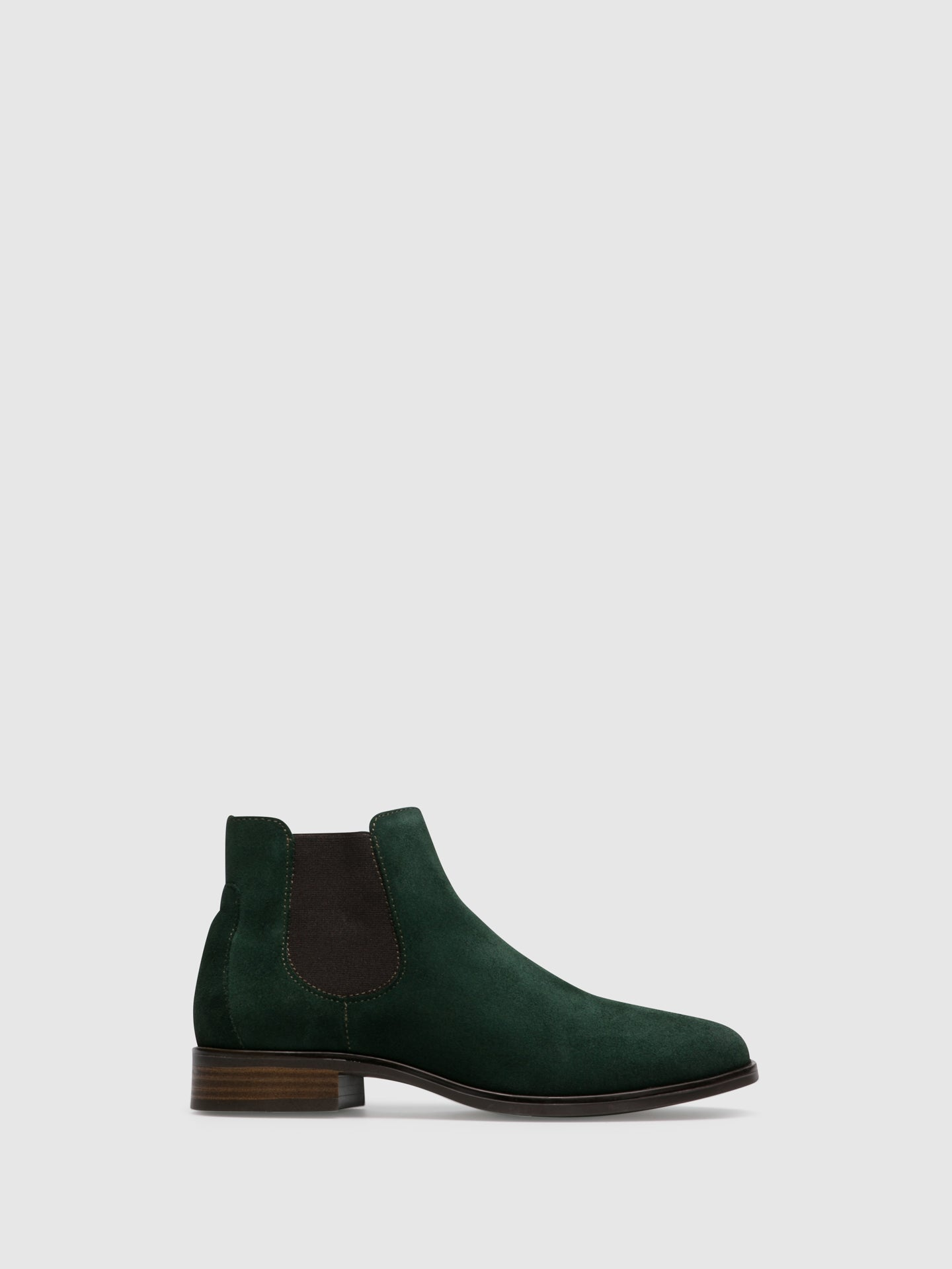 Foreva Green Elasticated Ankle Boots