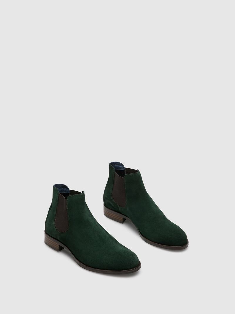 Green Elasticated Ankle Boots