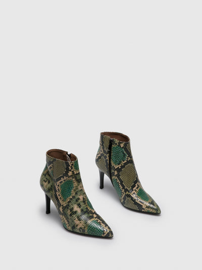 Foreva Green Pointed Toe Ankle Boots