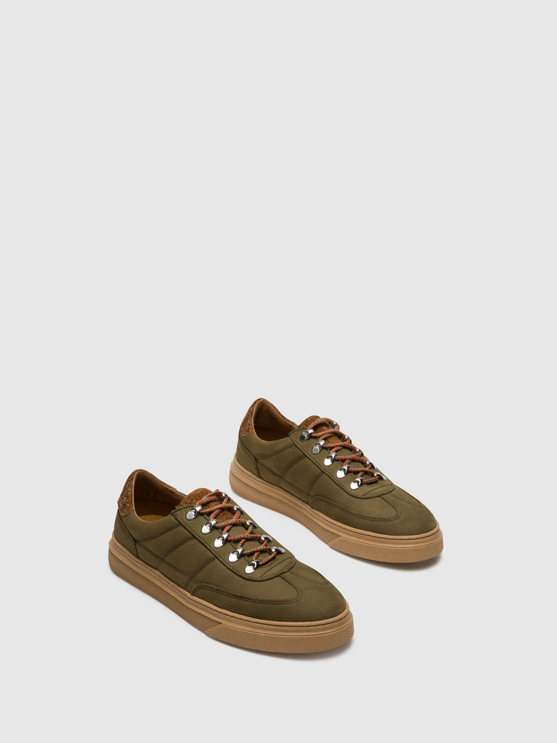 Khaki Lace-up Shoes